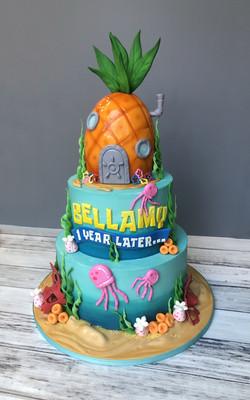 Spongebob Inspired Cake
