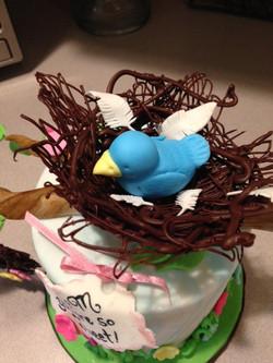Close up of bird in nest