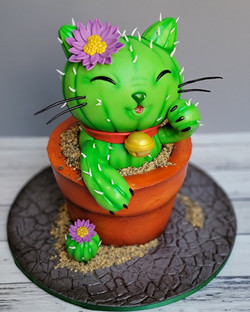 What do you get when you combine a kitty with a cactus?