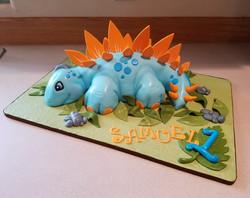 1st birthday Stegasaurus cake