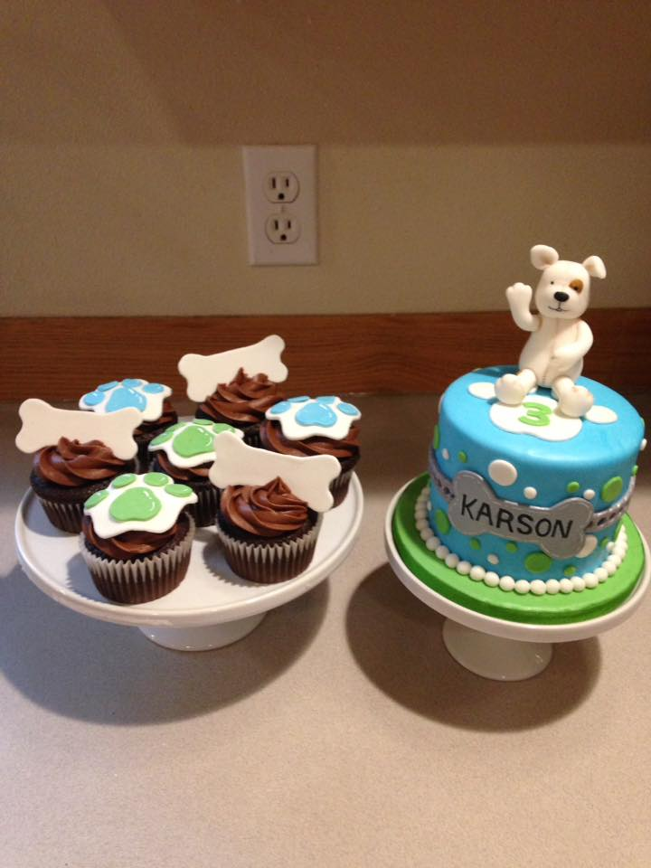 Sweet puppy cake set
