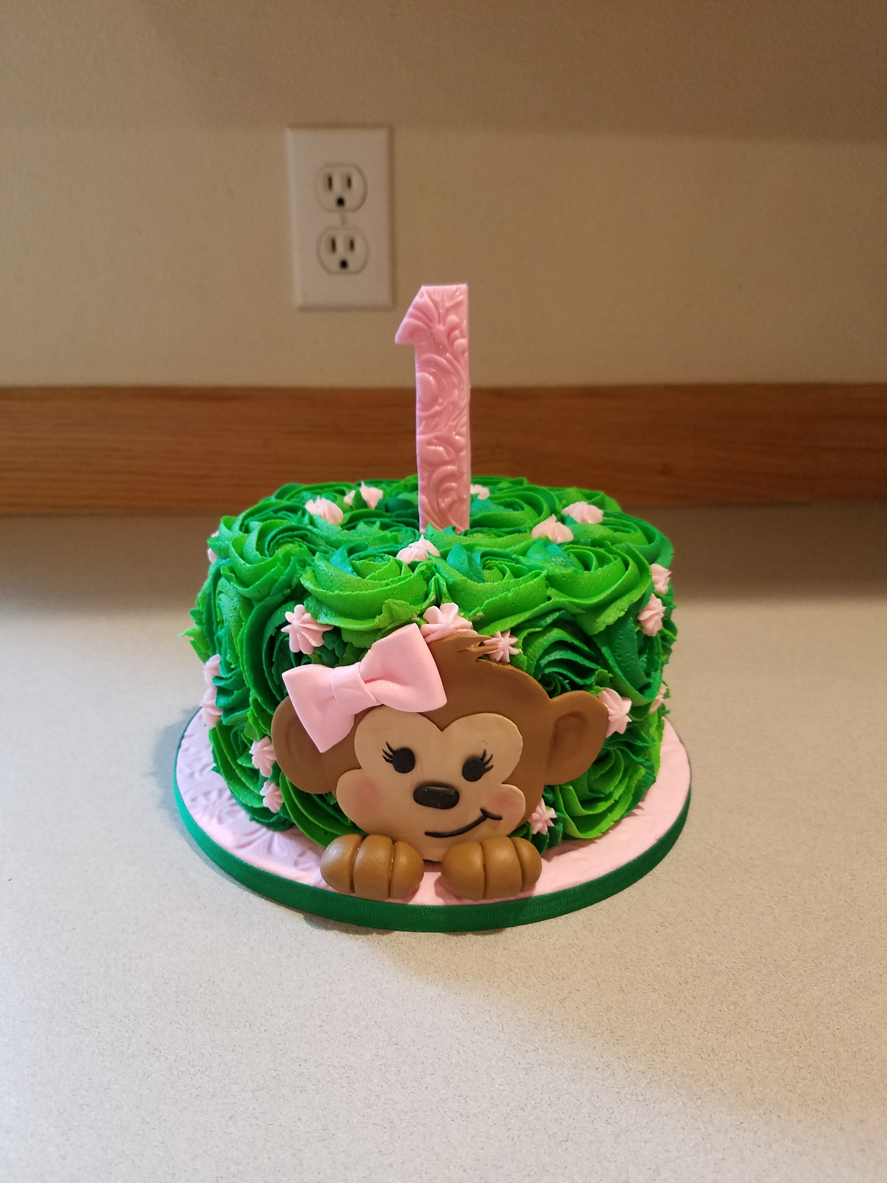 First birthday monkey cake
