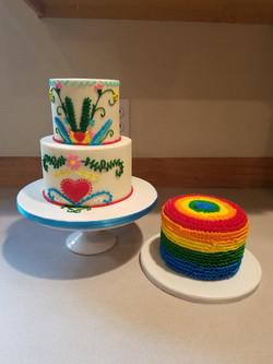 Embroidery Cake W/Smash