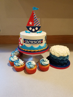 Nautical First birthday set