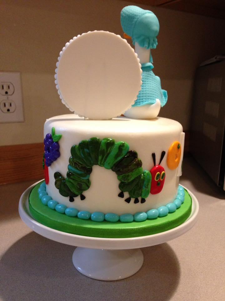 details of back of cake