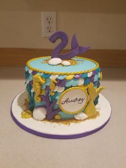 Mermaid inspired cake