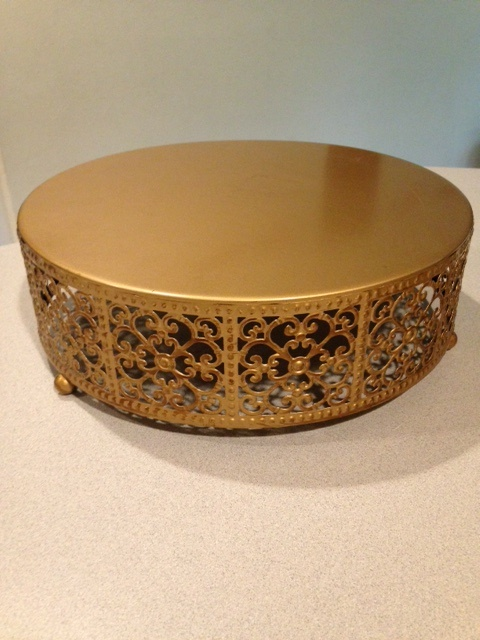 Gold metal stand