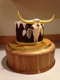Golden Steer Skull