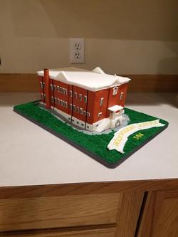 Sculpted school cake