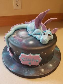 Beautiful Space Dragon cake