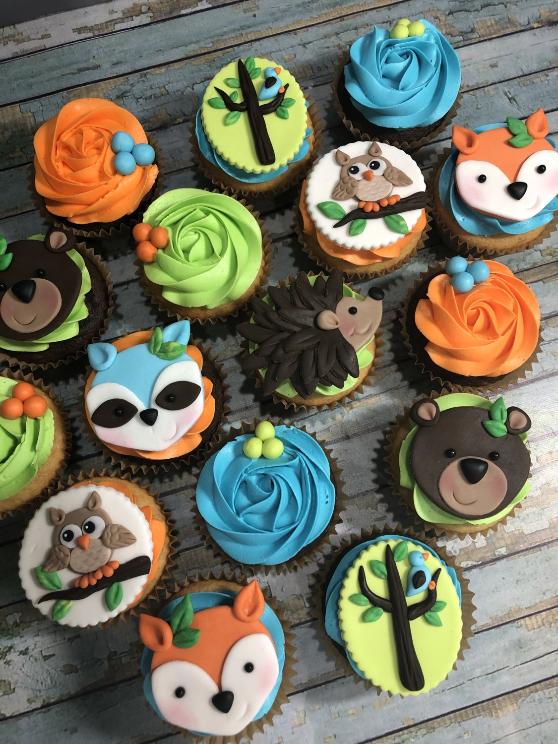 Forrest Friends Cupcakes