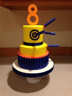 Small sized Nerf Gun cake