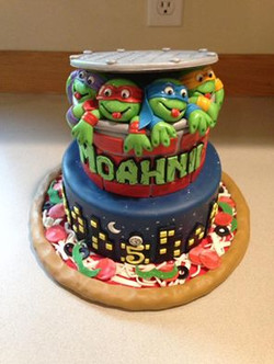 TMNT Hero cake for a girl