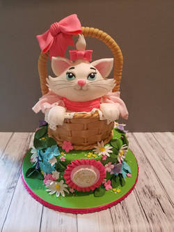 Aristocats Marie inspired cake