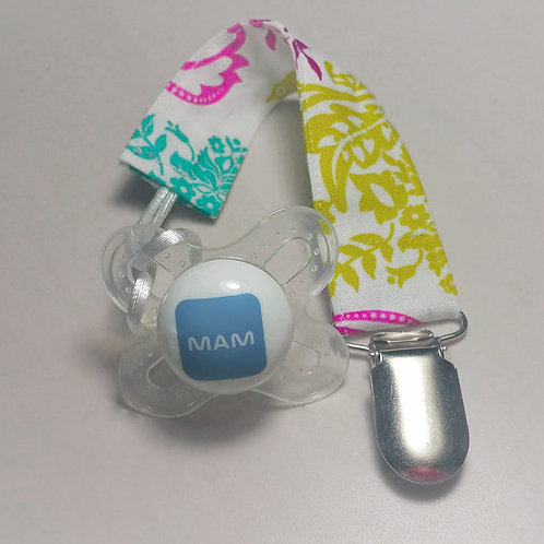 Mardi Gras Pacifier Clip