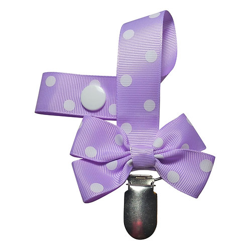 Purple Passion Pacifier Clip