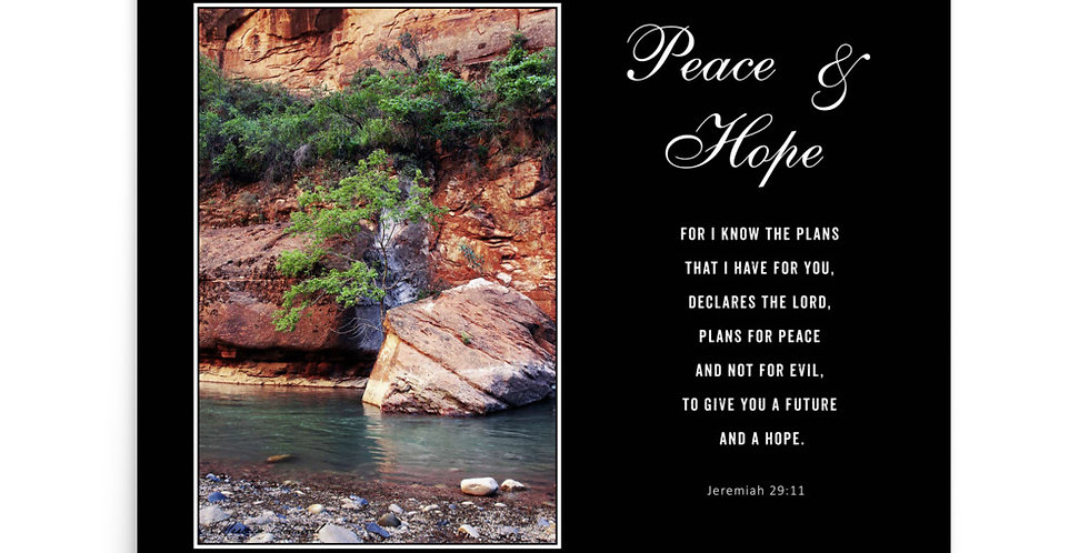 Peace & Hope - Premium Poster