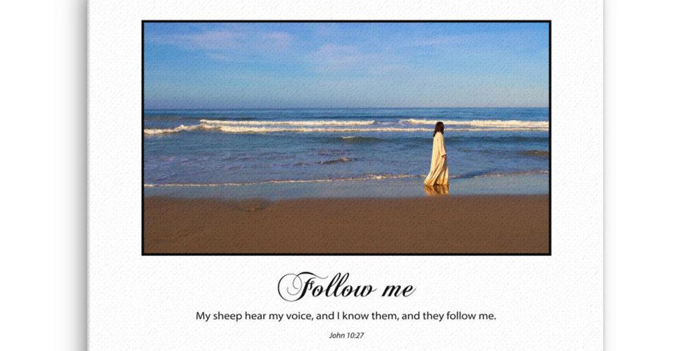 Follow Me (on white) - Premium Canvas