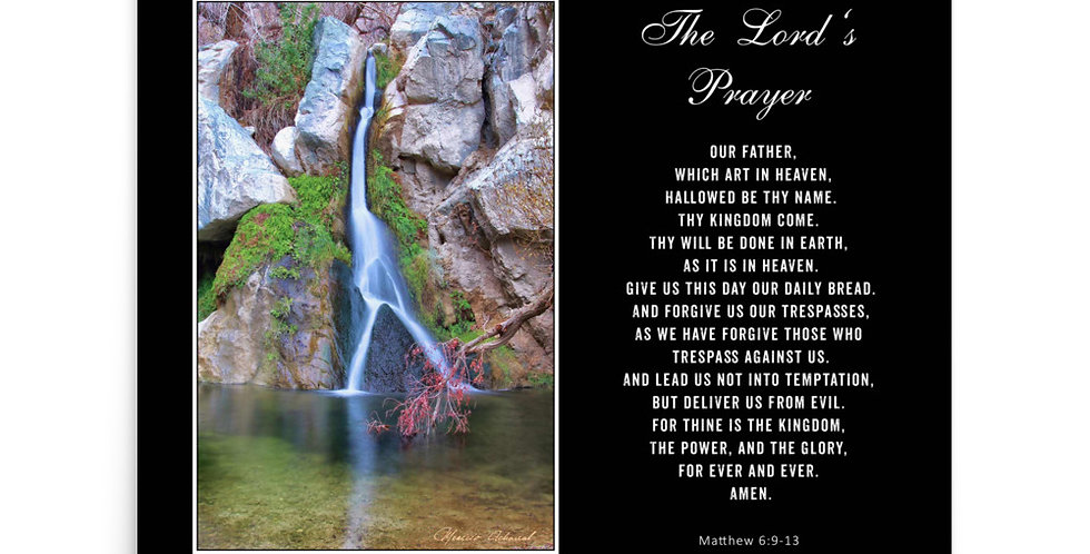 The Lord's Prayer - Premium Poster