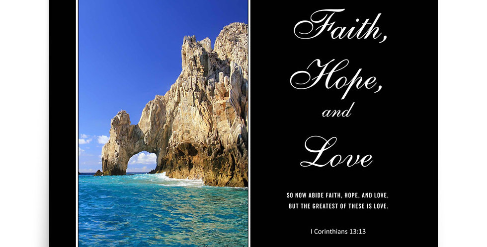 Faith, Love, and Hope - Premium Poster