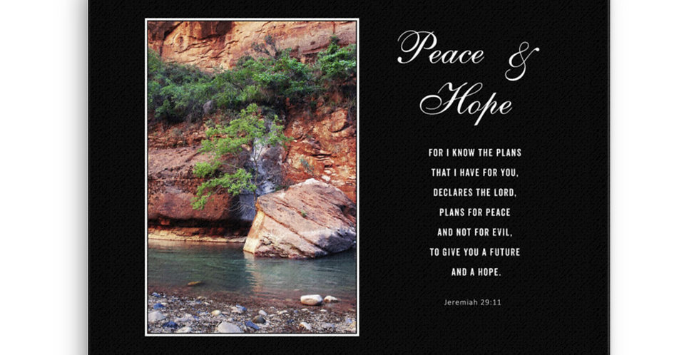 Peace & Hope - Premium Canvas