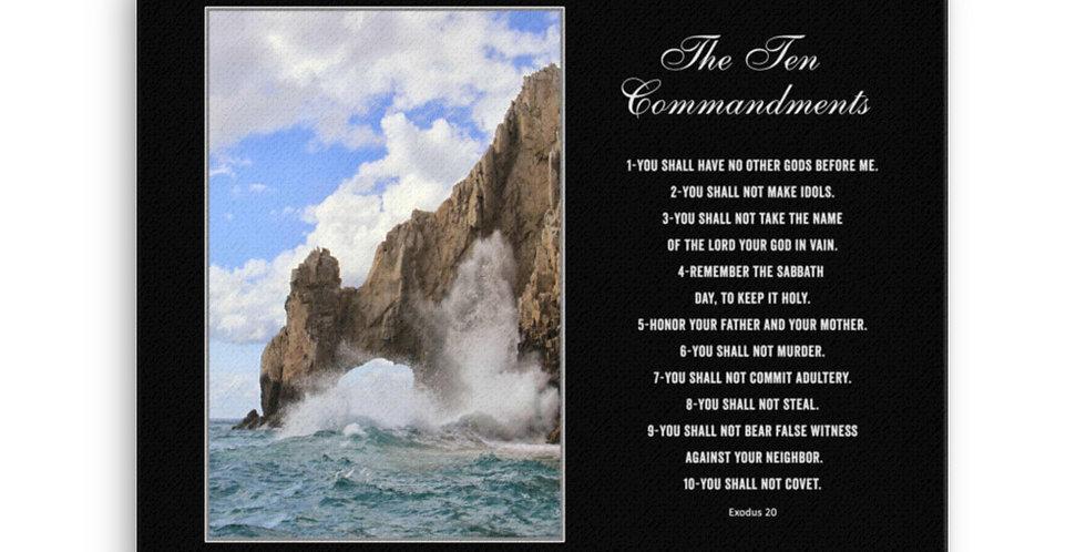 The Ten Commandments - Premium Canvas
