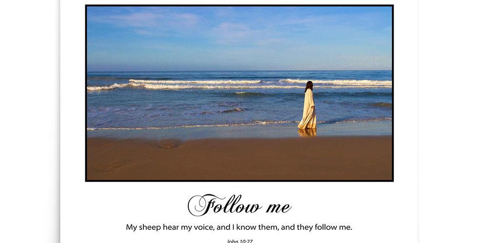 Follow Me (on white) - Premium Poster