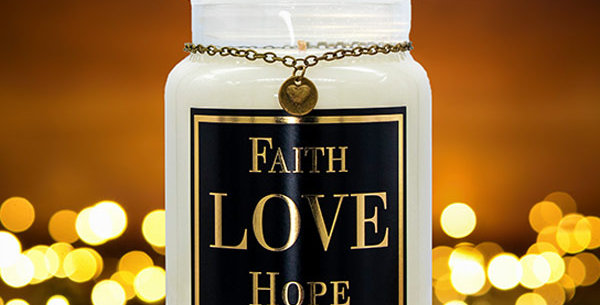 Aromatherapy Candle - Faith, Love, Hope