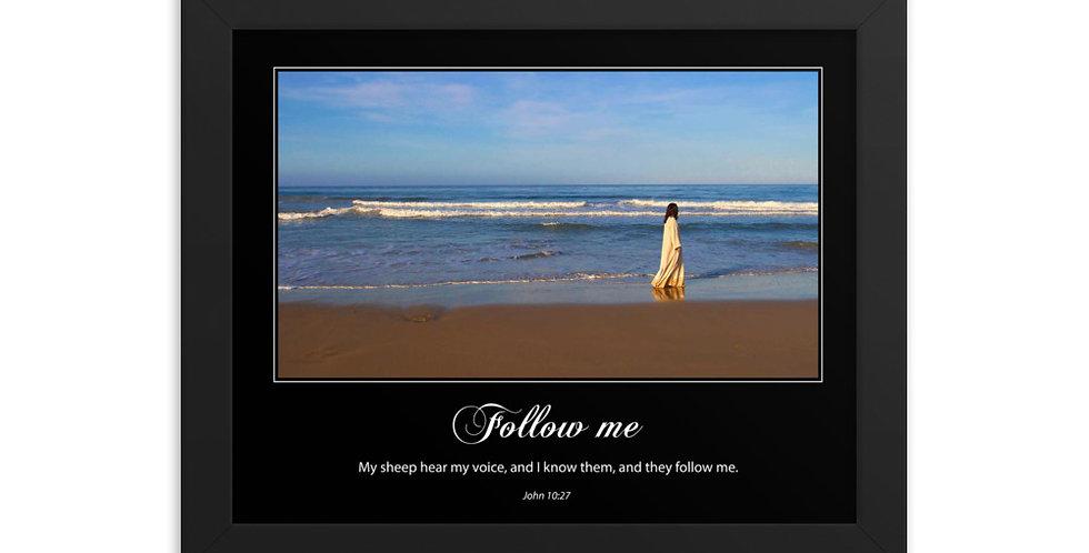 Follow Me - Premium Framed Poster