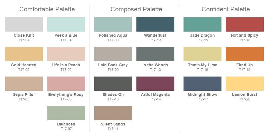 2017 Color Pallet Forecast