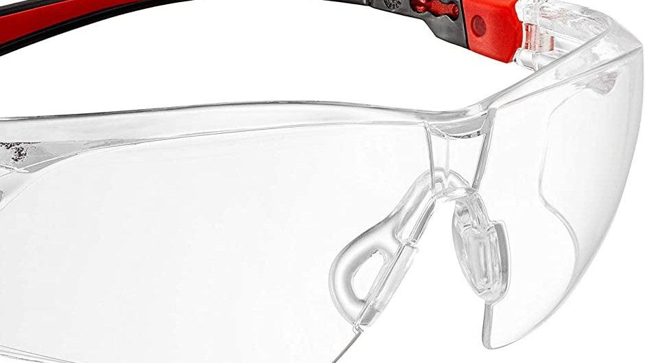 Safety Glasses RED/BLACK FRAMED