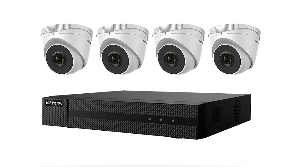 Hikvision Value Express Series 4 channel PoE NVR - 2mp Resolution Cameras x4