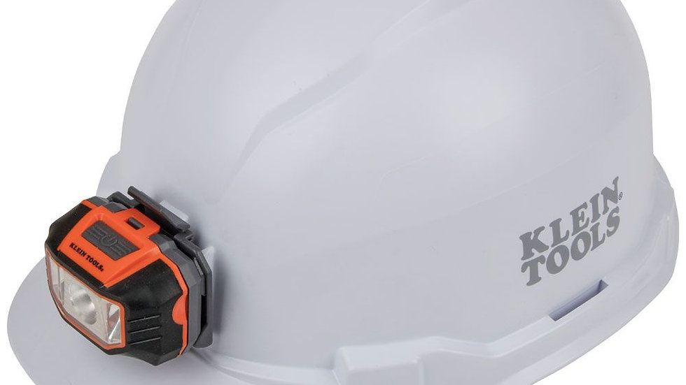KLEIN Hard Hat w/light, Cap Style, White, Class E