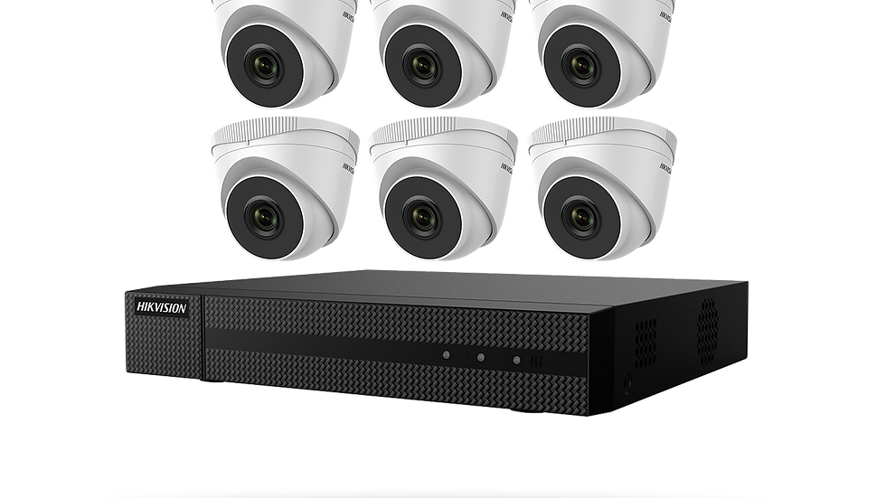 Hikvision Value Express Series 8 channel PoE NVR - 2mp Resolution Cameras X6