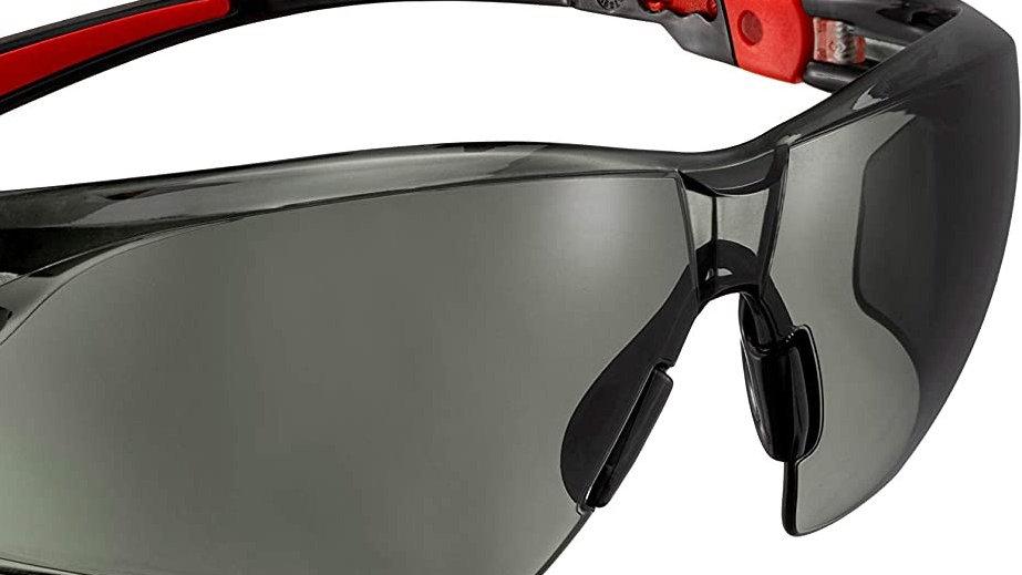 Safety Glasses TINTED RED/BLACK FRAMED