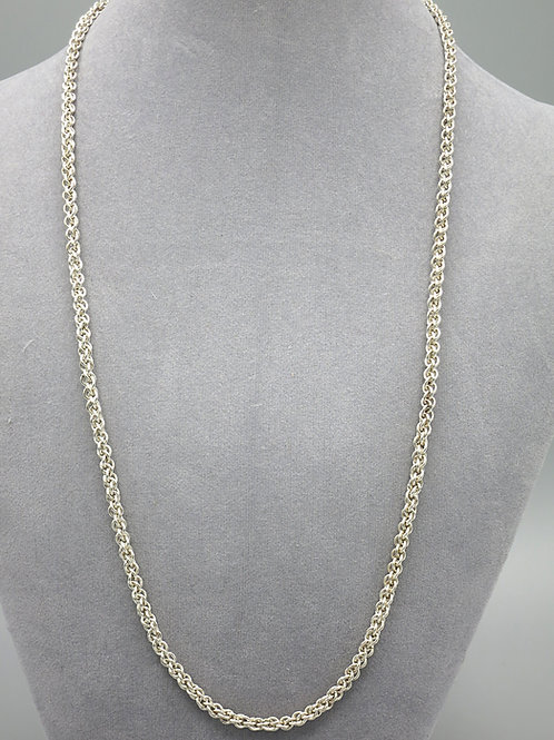 """Argentium silver 25"""" JPL long chainmail necklace"""