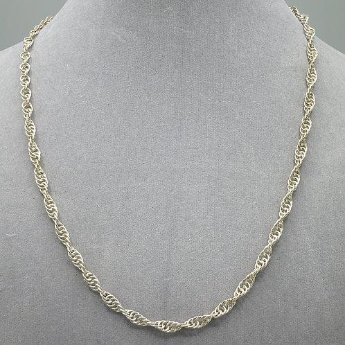 "Argentium silver 15.5"" spiral chainmail necklace"