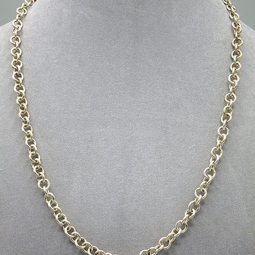 ".925 sterling silver 1-in-1 20.25"" chainmail necklace"