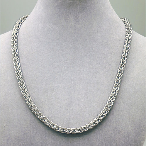 "19"" Forars Kaede weave aluminum chainmail necklace"