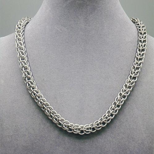 """19"""" Enceladus weave aluminum chainmail necklace"""