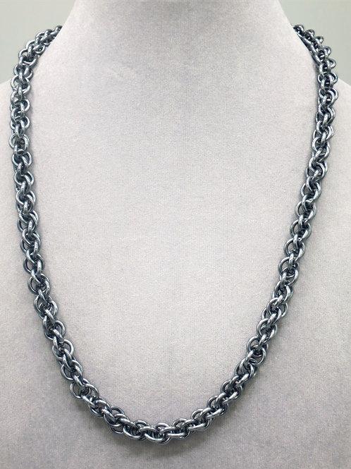 "20.5"" Gunmetal JPL weave anodized aluminum chainmail ne"