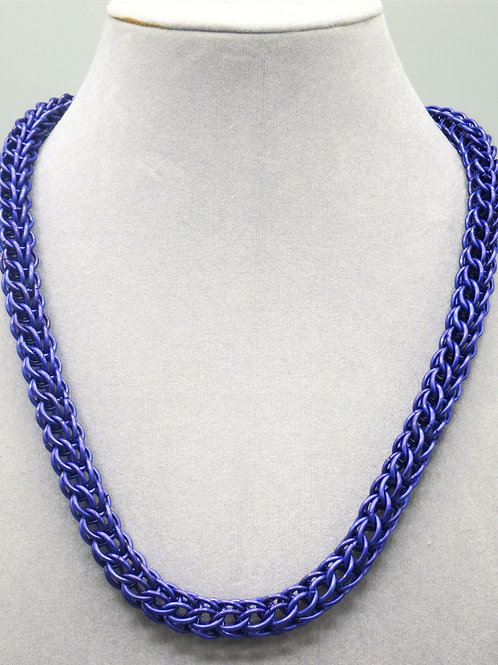 "18.5"" Violet Full Persian weave anodized aluminum chainmail necklace"