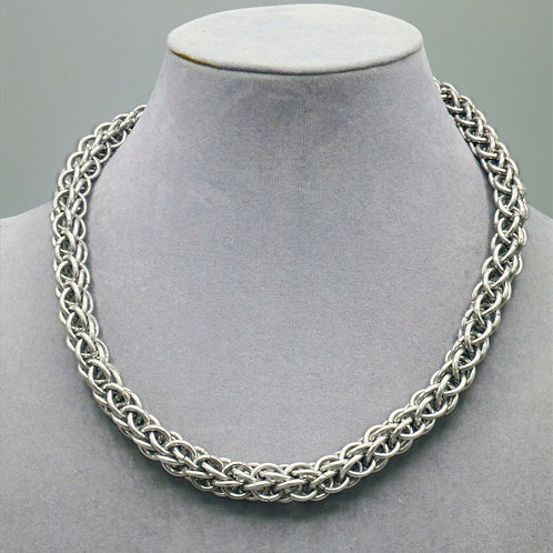 """16.5"""" Forars Kaede weave aluminium chainmail necklace"""