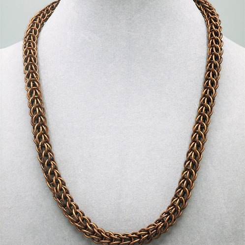 "17.8"" Brown Full Persian weave anodized aluminum chainmail necklace"
