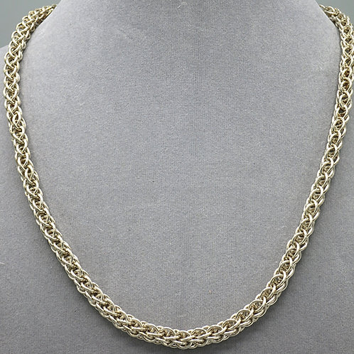 """Argentium silver 18.75"""" Forars Kaede chainmail necklace"""