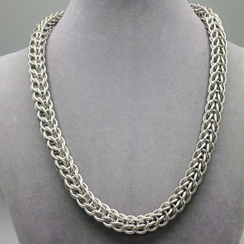 """20.7"""" Full Persian weave aluminum chainmail necklace"""