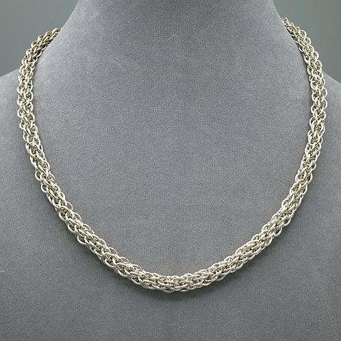 "Argentium silver 17.25"" JPL5 chainmail necklace"