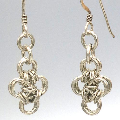 Argentium silverHana-Gusari chainmail doubled diamonds