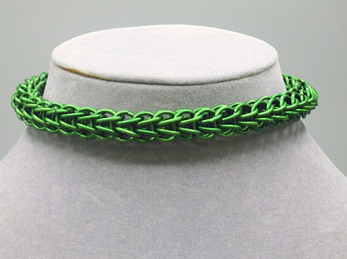 "10.4"" Green Full Persian weave anodized aluminum chainmail anklet"