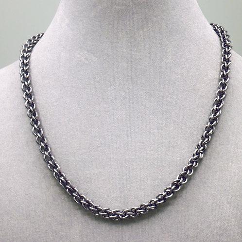 "16.9"" Gunmetal JPL weave anodized aluminum chainmail ne"